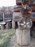 木建筑的房子 库存照片