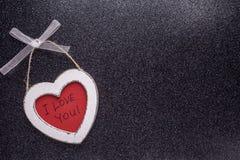 木心脏我爱你 免版税库存图片