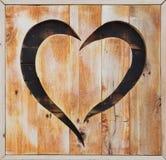 木心脏,华伦泰caft装饰 板条 库存图片