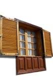 木快门的视窗 库存图片