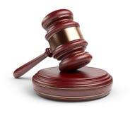 木惊堂木。 法律概念。 3D图标   库存照片
