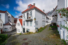 木房子在卑尔根,挪威 免版税库存图片
