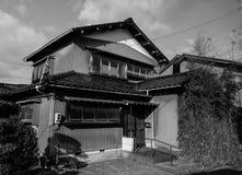 木房子在历史的村庄白川町去 库存图片