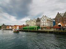 木房子在布吕根 卑尔根挪威 库存图片