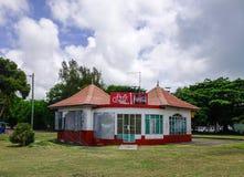 木房子在盛大白鹅,毛里求斯 免版税图库摄影