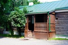 木房子的村庄 库存照片