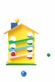 木房子的玩具 免版税库存图片