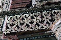 木房子 雷宾斯克镇,俄罗斯建筑学  库存图片