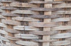 木手工制造篮子 免版税库存照片