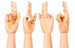 木手显示两个手指 图库摄影