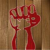木拳头的板条 库存照片