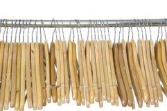 木挂衣架 库存图片