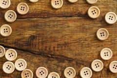 木按钮的汇集 图库摄影