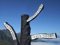 木挪威的符号 库存图片