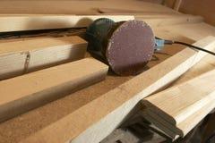 木擦亮的仪器 免版税库存照片