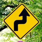 木改道框架指针红色丝带概略的符号的业务量 库存照片