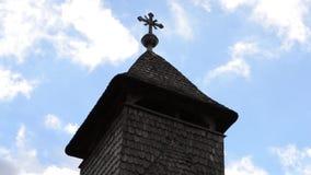 木教会十字架尖顶Timelapse 股票录像