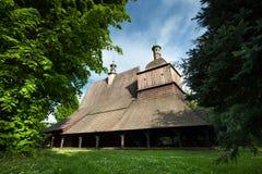 木教会在Sekowa,波兰 库存照片