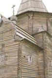 木教会的片段 免版税图库摄影