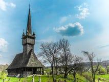 木教会的maramures 免版税图库摄影