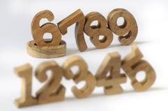 木数字样式 免版税库存图片