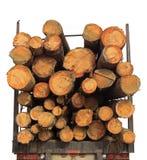 木料栈卡车木头 免版税库存图片