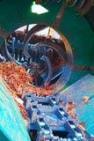 木料用机器制造围场 库存图片