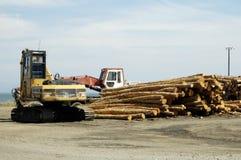 木料运算 库存图片