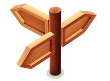 木方向标的例证 库存例证