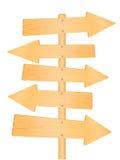 木方向路标 库存照片