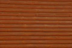 木日志墙壁的布朗纹理 图库摄影