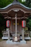 木日本人寺庙 免版税库存照片