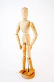 木时装模特 免版税图库摄影