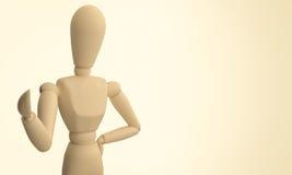 木时装模特 图库摄影