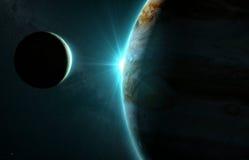 木星和月亮Io 免版税库存照片