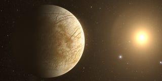 木星月亮欧罗巴 皇族释放例证