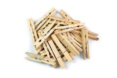 木服装扣子 库存照片