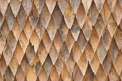 木木瓦屋顶。 免版税图库摄影