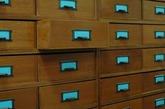 木机柜的归档 库存照片
