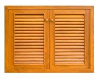 木机柜的视窗 图库摄影