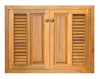 木机柜的视窗 库存照片