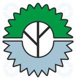 木材加工产业商标 库存图片