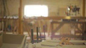 木材加工和锯切车间,锯木厂,背景,拷贝空间 股票录像