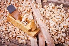 木材加工手工具 免版税库存照片