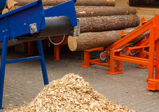 木材加工机器 免版税库存照片
