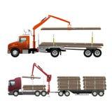 木材卡车 图库摄影