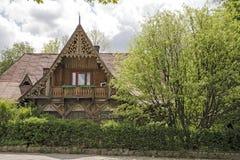 木材房子在扎科帕内 免版税库存照片
