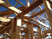 木材房子框架 免版税图库摄影