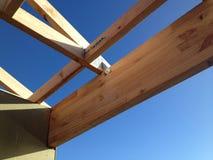 木材房子框架 库存图片