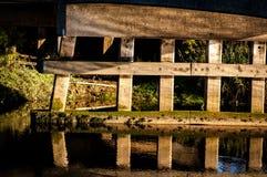 木材桥梁支持 图库摄影